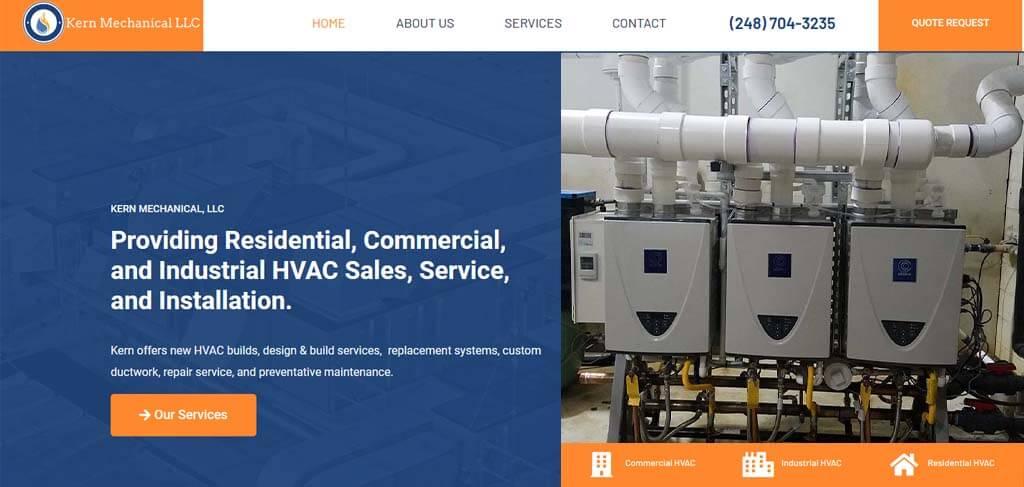 Contractor Website Design in Southeast Michigan